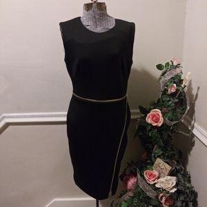 NWOT Calvin Klein Zippered Black Sheath Dress